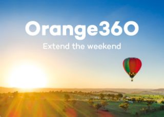 VisitNSW homepage campaign slider - Orange - Extend the Weekend