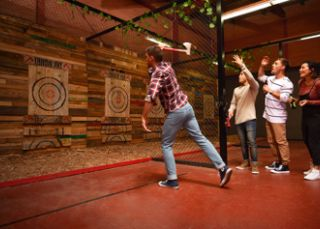 Axe throwing at Throw Axe Penrith