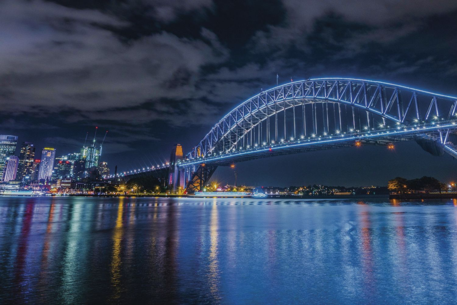 Sydney Harbour Bridge during Vivid Sydney 2016