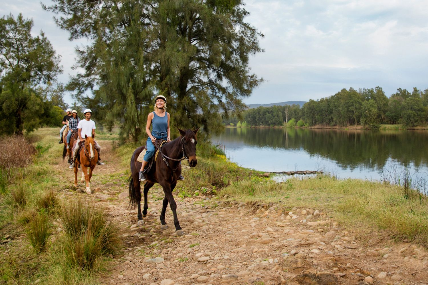 Horseriding by the river in the Hawkesbury Region