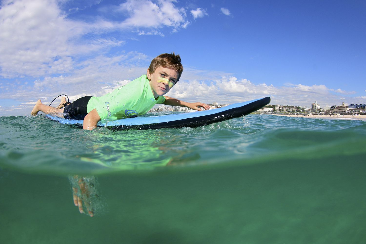 Learning to surf with Lets Go Surfing in Bondi Beach, Sydney East
