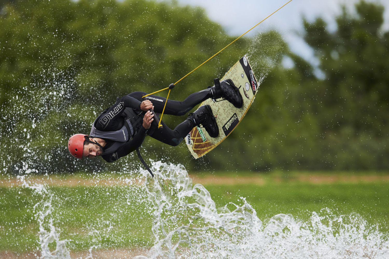 Man enjoying an action-packed experience at Cables Wake Park in Penrith, Sydney west