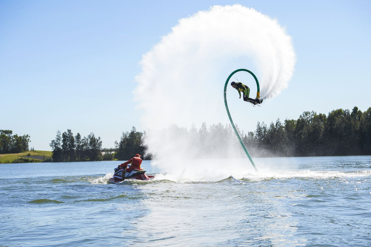 Man enjoying an action-packed experience at Jetpack Adventures, Penrith