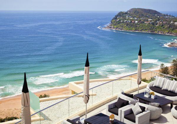 Scenic ocean views from Jonah's Restaurant and Boutique Hotel at Whale Beach, Sydney