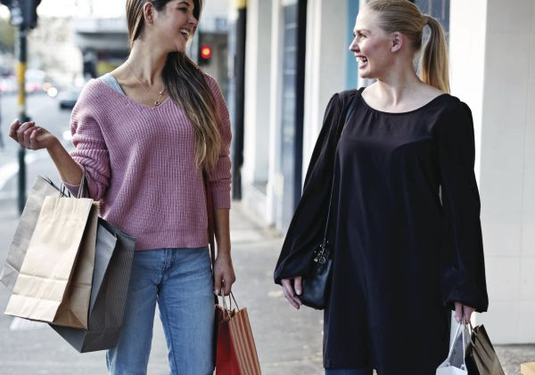 Friends shopping together in Surry Hills