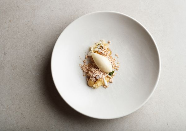 Aria - Custard Apple Dessert - Image Credit: Steven Woodburn