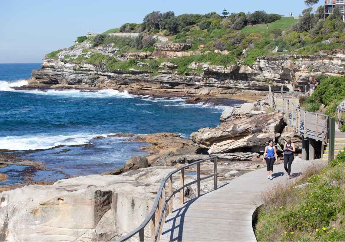 Bondi coastal walk in Bondi, Sydney East