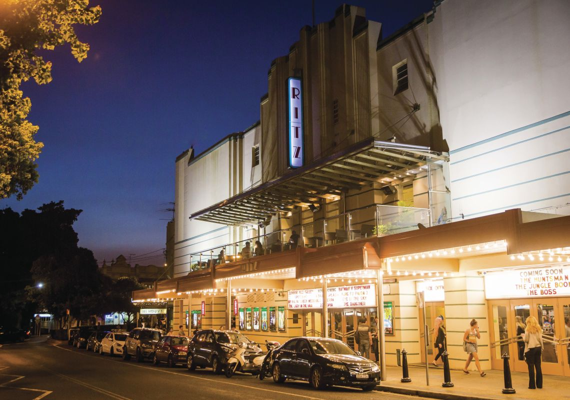 The Ritz, a heritage-listed art deco cinema in Randwick