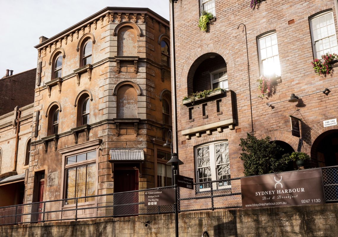Heritage listed Sydney Harbour Bed and Breakfast, The Rocks