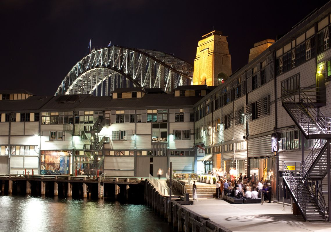 Walsh Bay piers at night