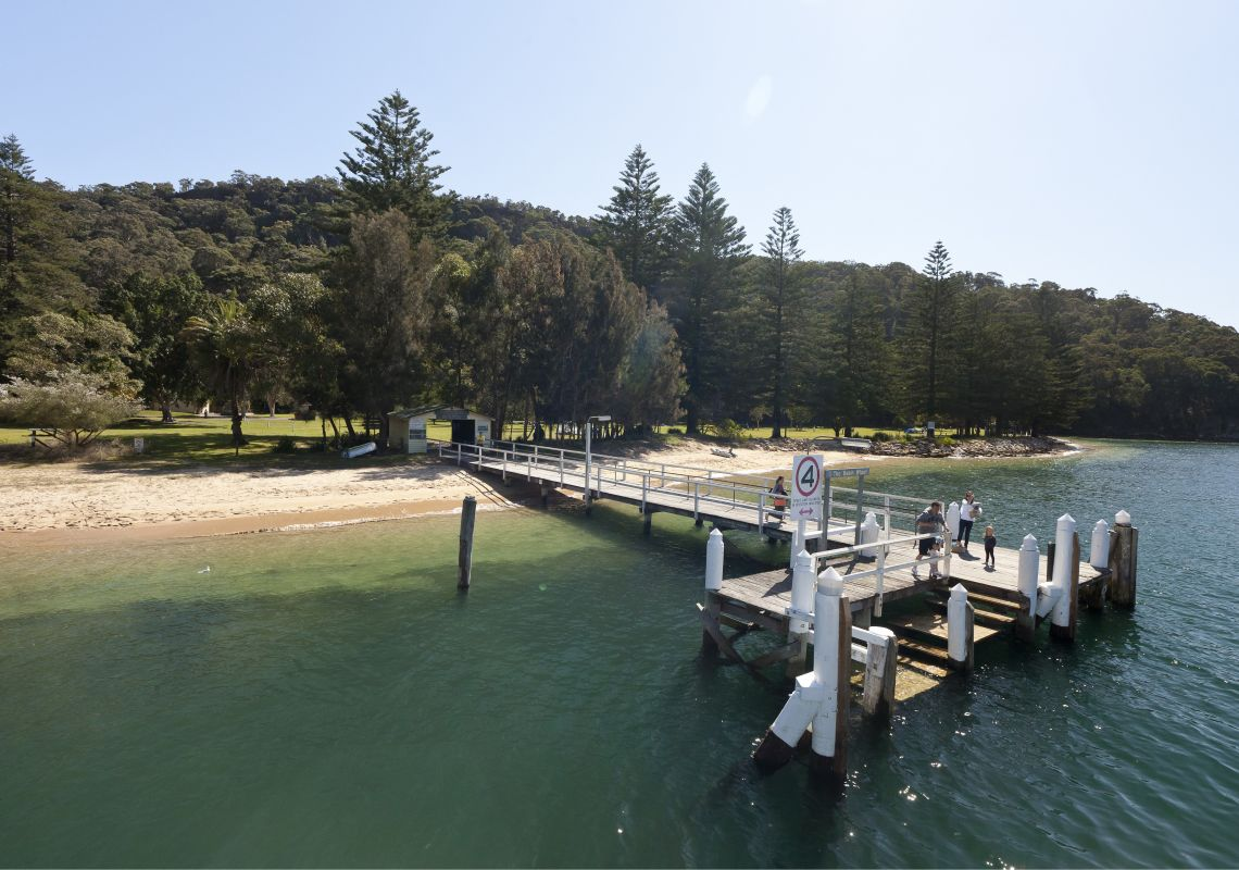 The Basin wharf at Pittwater in Ku-ring-gai Chase National Park