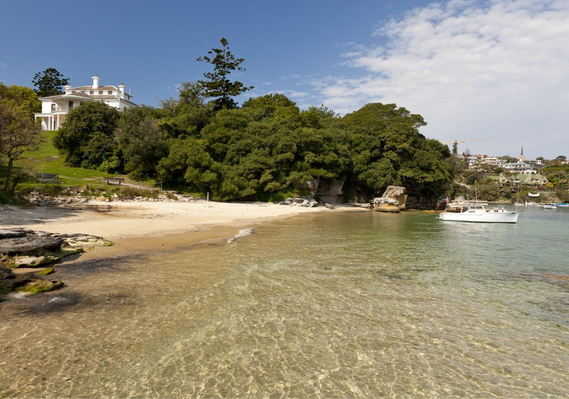 Milk Beach at Vaucluse in  Watsons Bay