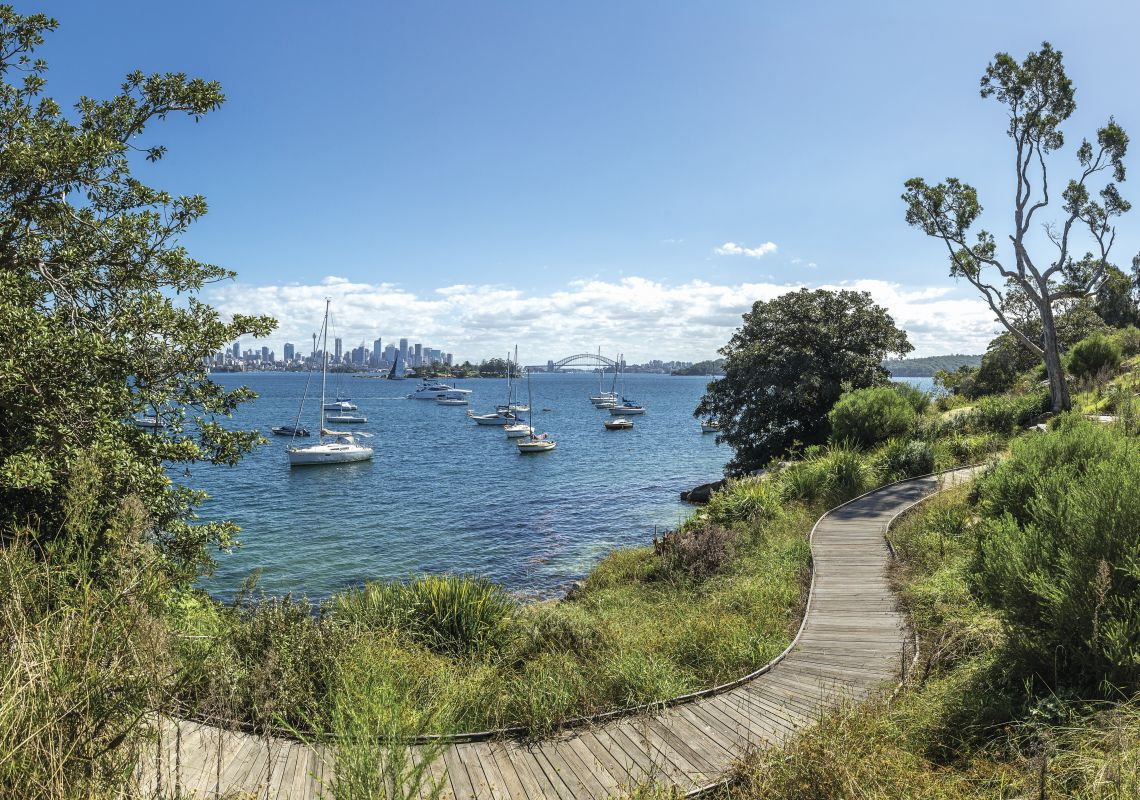 Scenic harbour views from the Hermitage Foreshore Track, Vaucluse