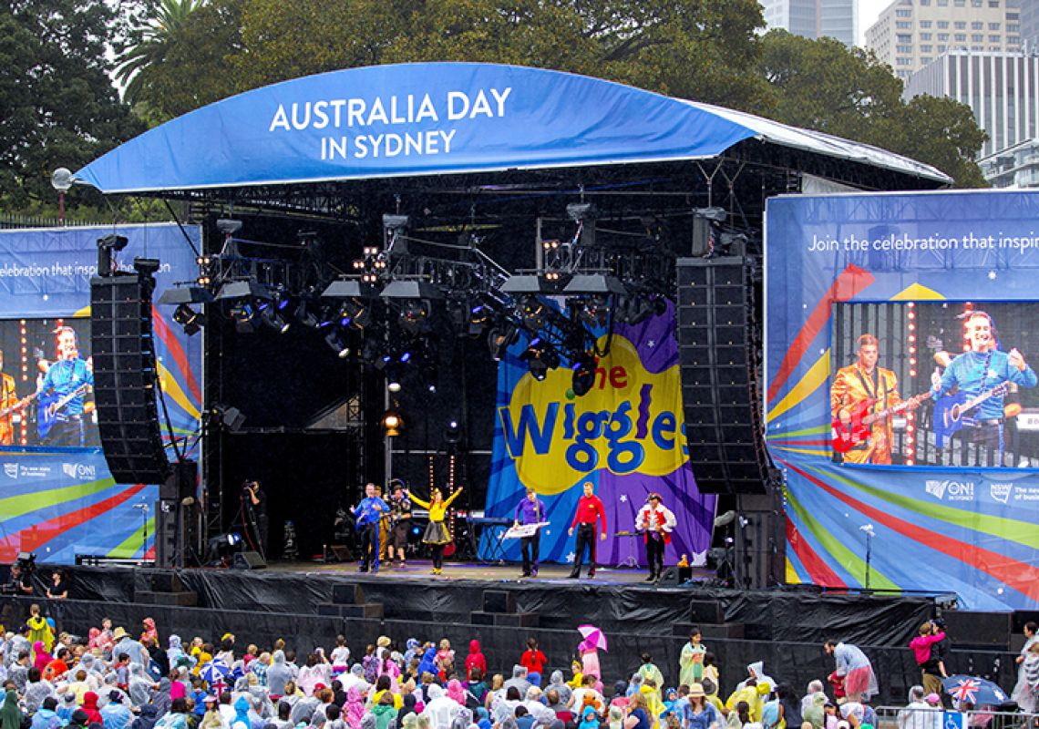The Wiggles performing in Sydney, on Australia Day