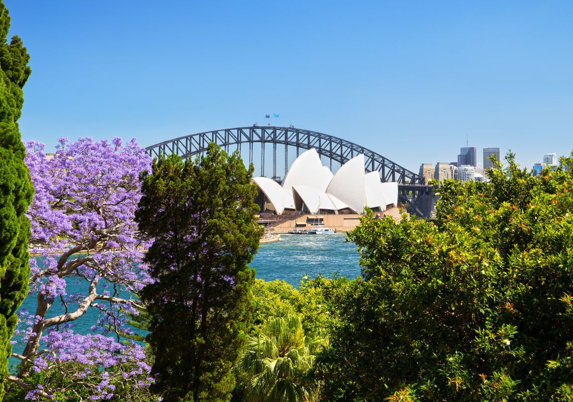 View of the Sydney Opera House from the Royal Botanic Garden, Sydney