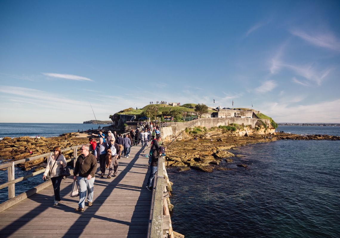 The historic Bare Island Fort, La Perouse