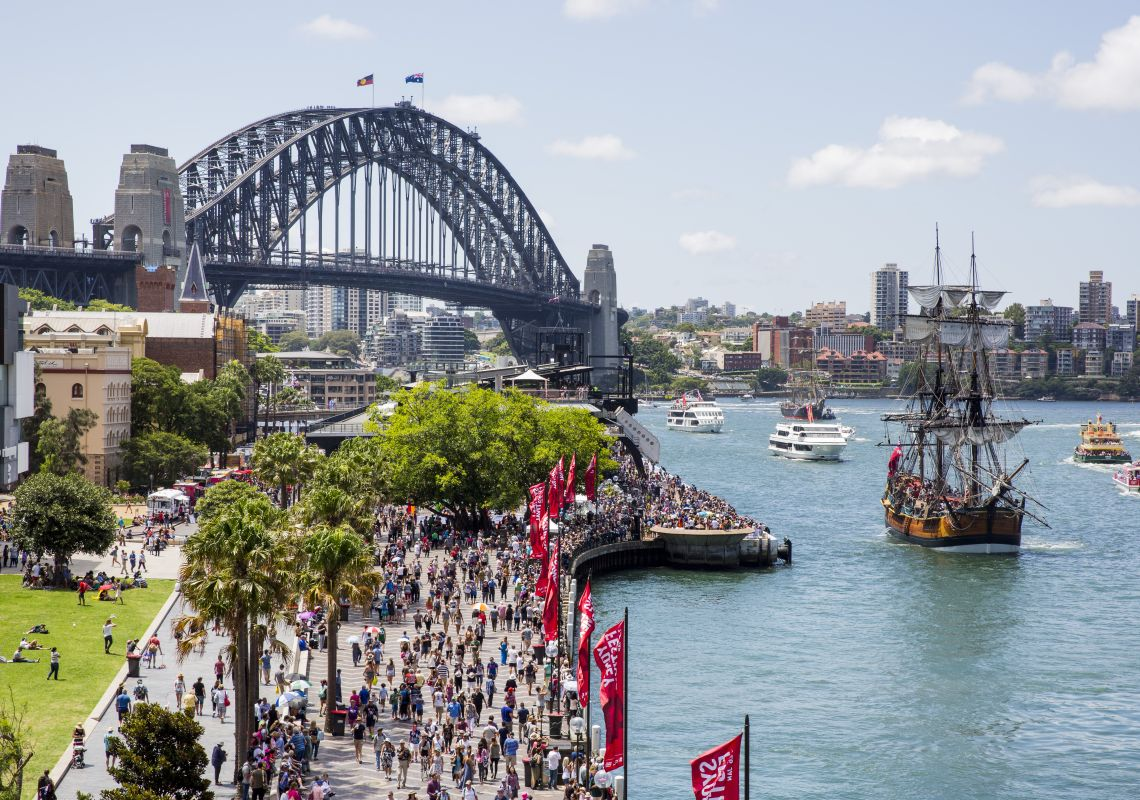 Crowds along Sydney Foreshore on Australia Day