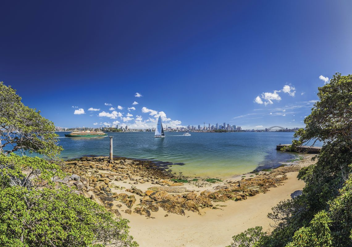 Sydney Harbour from Bradleys Head, Mosman
