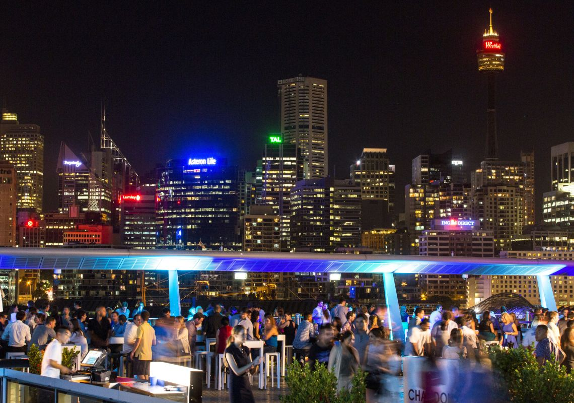 The Star Sky Terrace during the Sydney Festival, Pyrmont