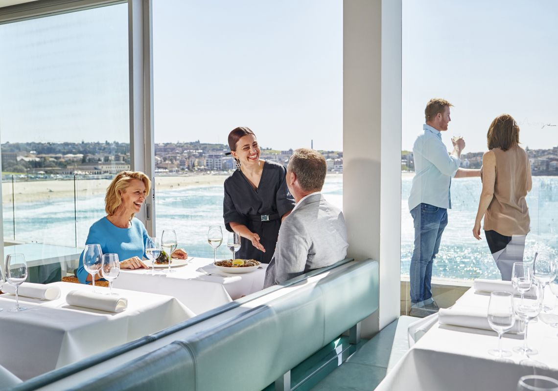 Scenic dining at Icebergs Dining Rooms and Bar, Bondi