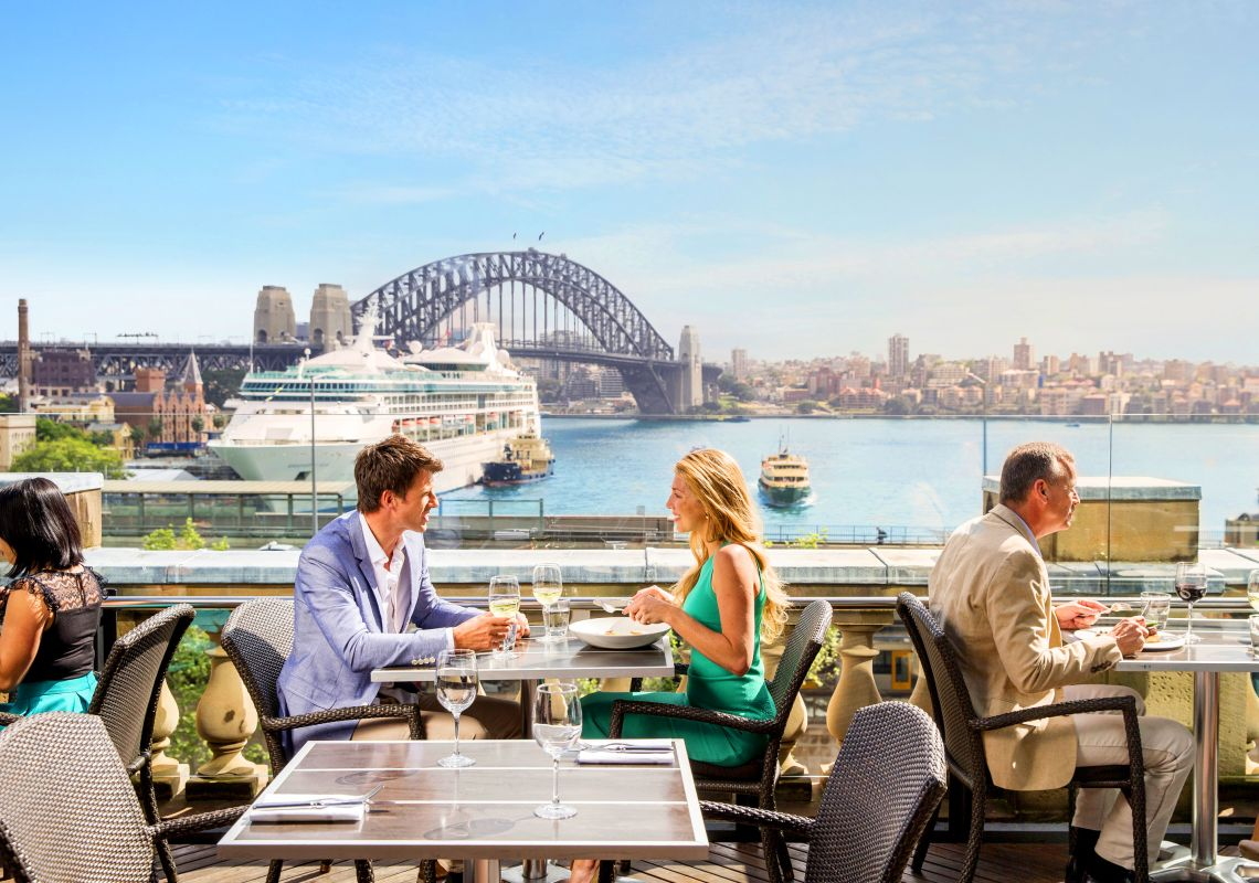 Dining at Cafe Sydney in Circular Quay - Sydney Harbour