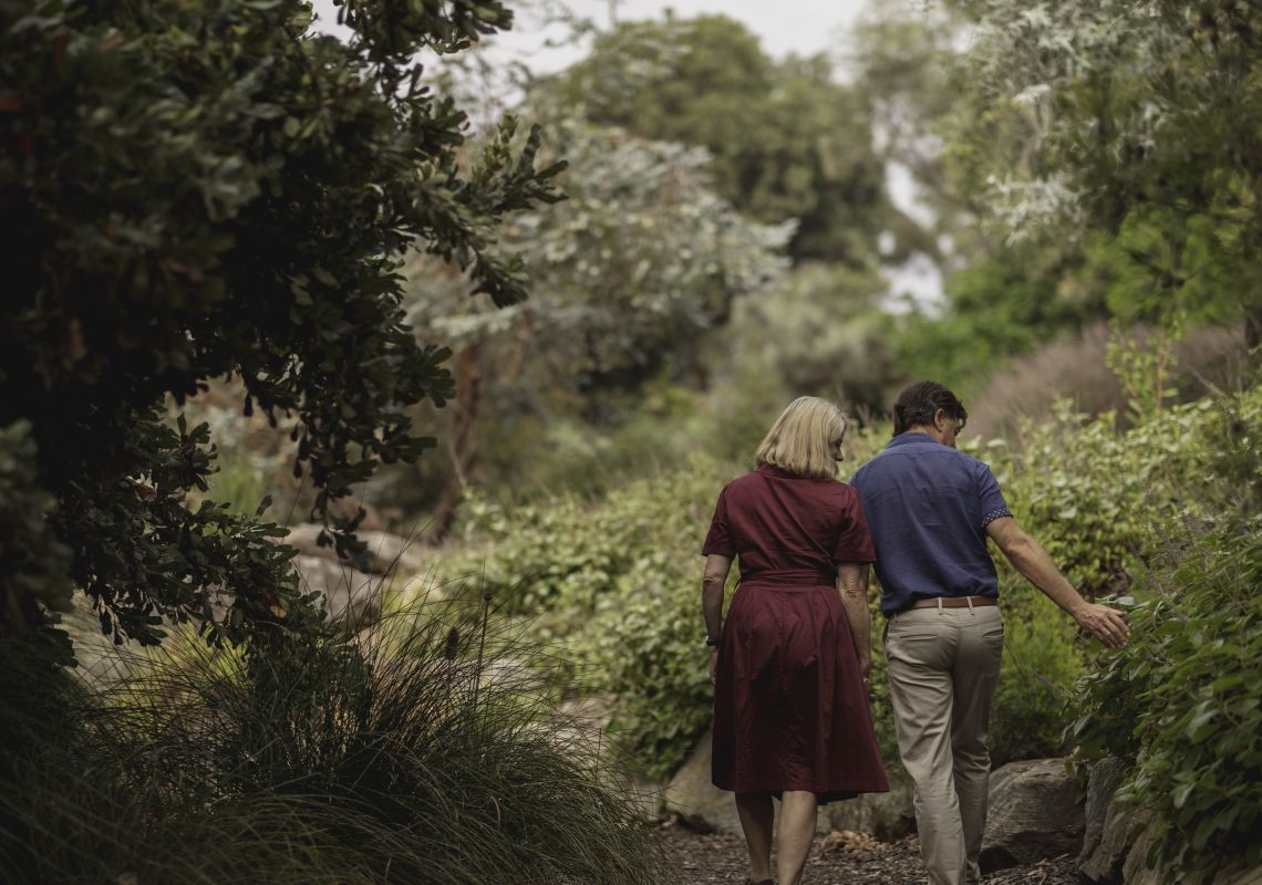 Couple enjoying their visit to The Australian Botanic Garden, Mount Annan in Camden