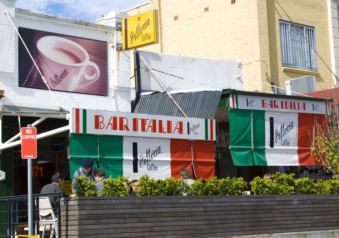 'Bar Italia' restaurant on Norton Street in Leichhardt, Inner Sydney