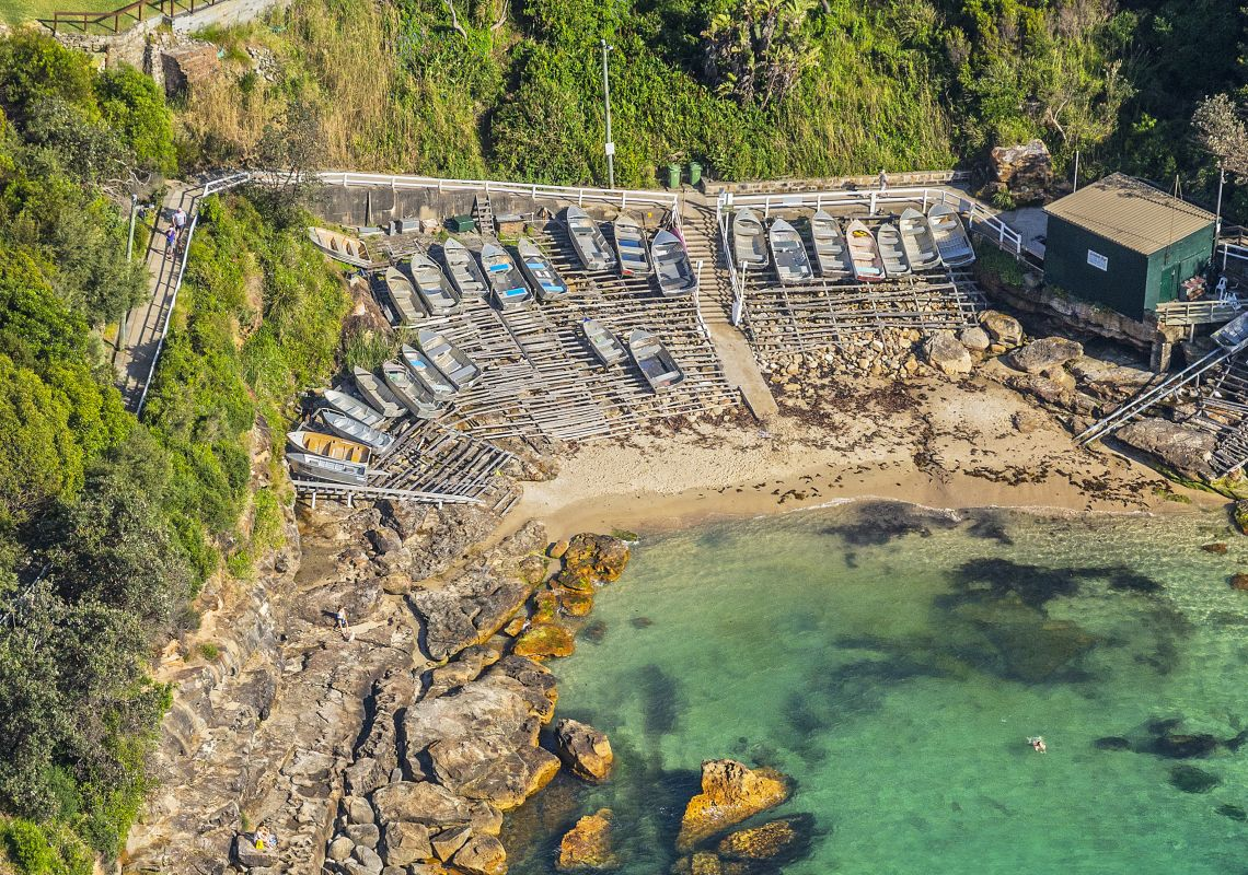 Aerial of Gordon's Bay in Coogee, Sydney East