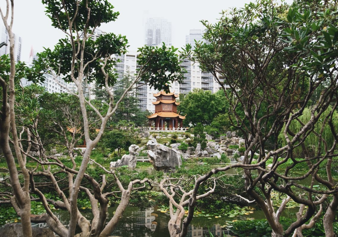 The peaceful and scenic grounds of the Chinese Garden of Friendship in Chinatown, Darling Harbour