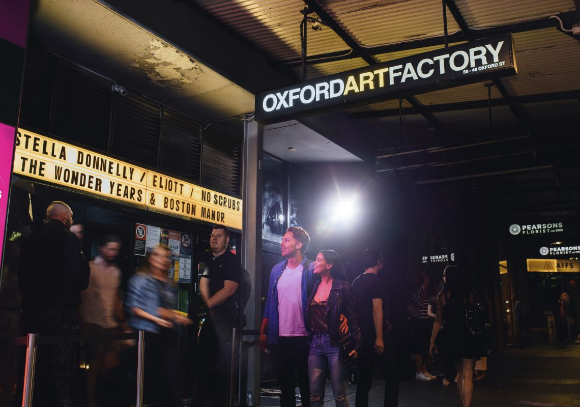 Oxford Art Factory in Darlinghurst, Inner Sydney