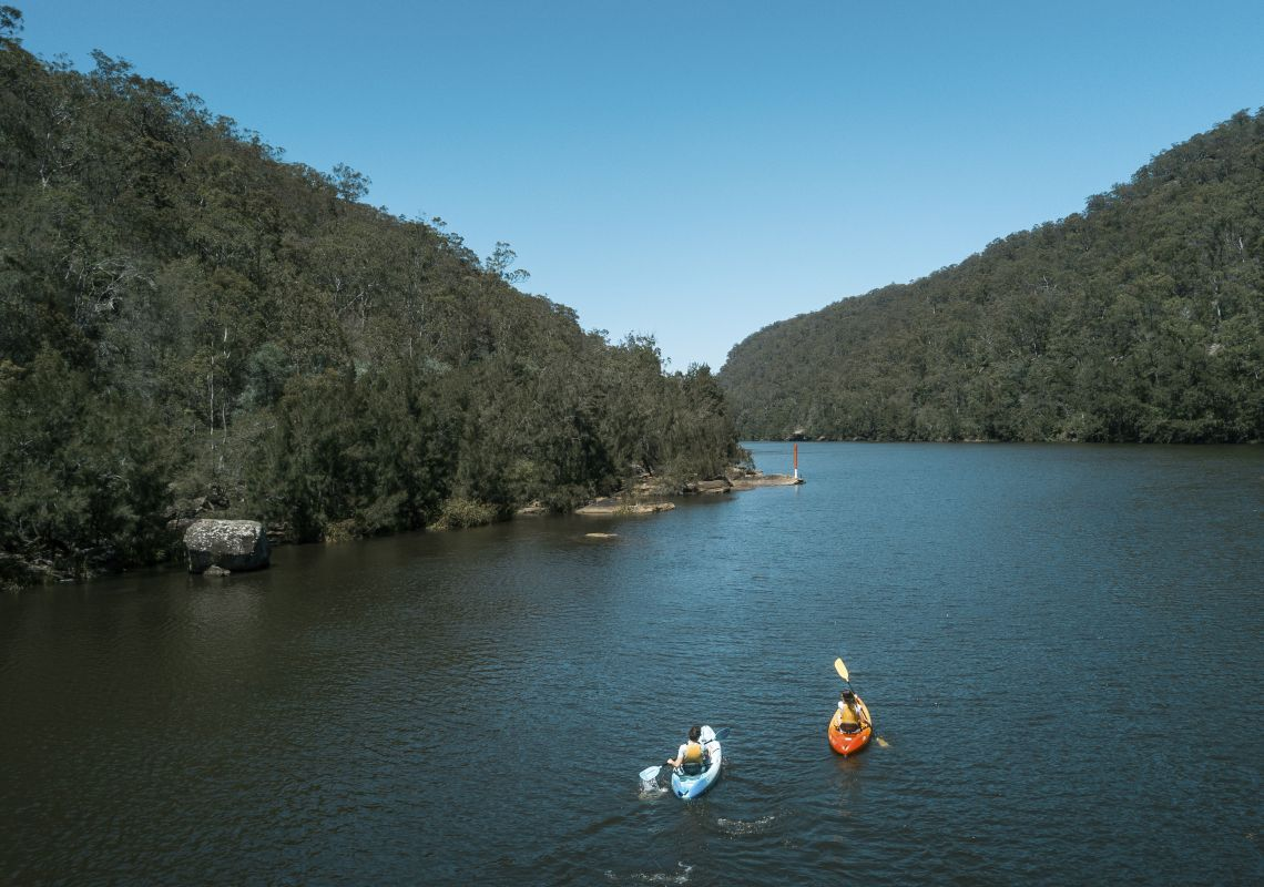Kayaking on the Hawkesbury River in Hawkesbury, Sydney North