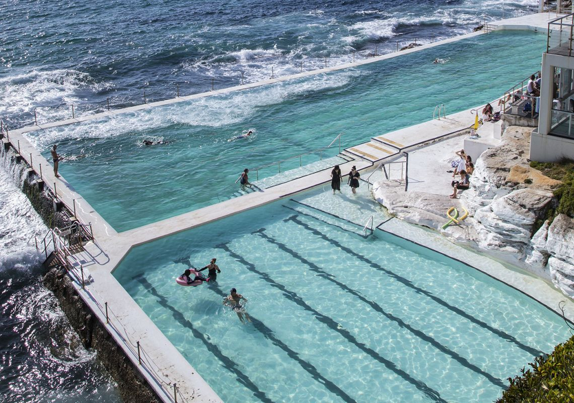 A Summer's day at the Bondi Icebergs Club in Bondi, Sydney East