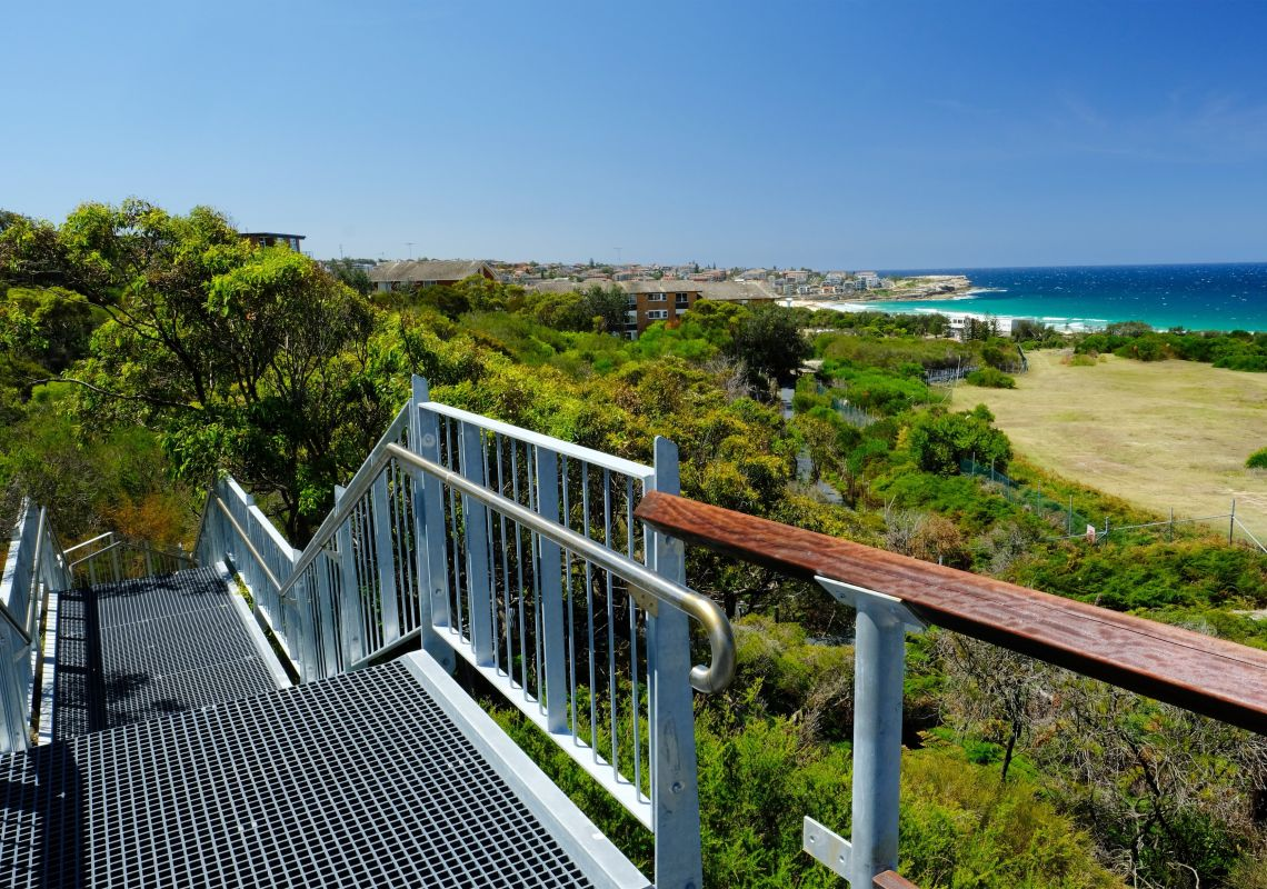Malabar Headland National Park Western Escarpment Walking Track in Maroubra, Sydney East
