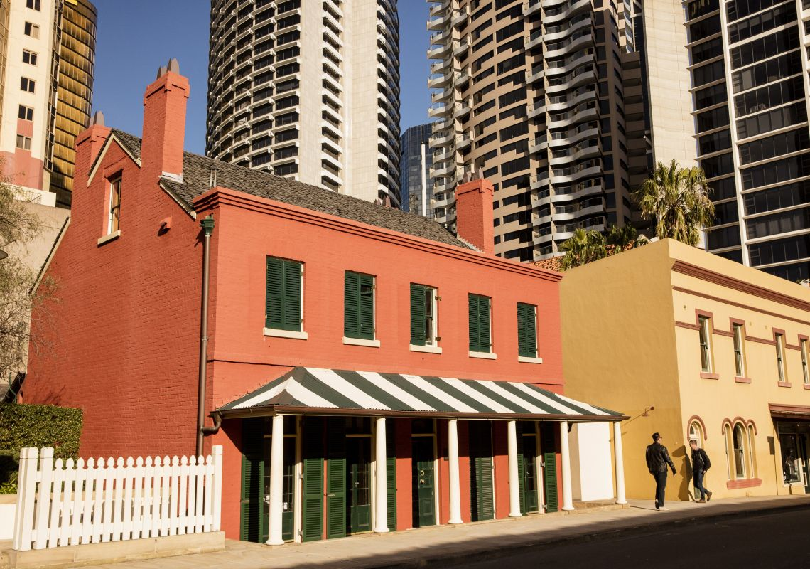 The heritage-listed Lilyvale Cottage in The Rocks, Sydney