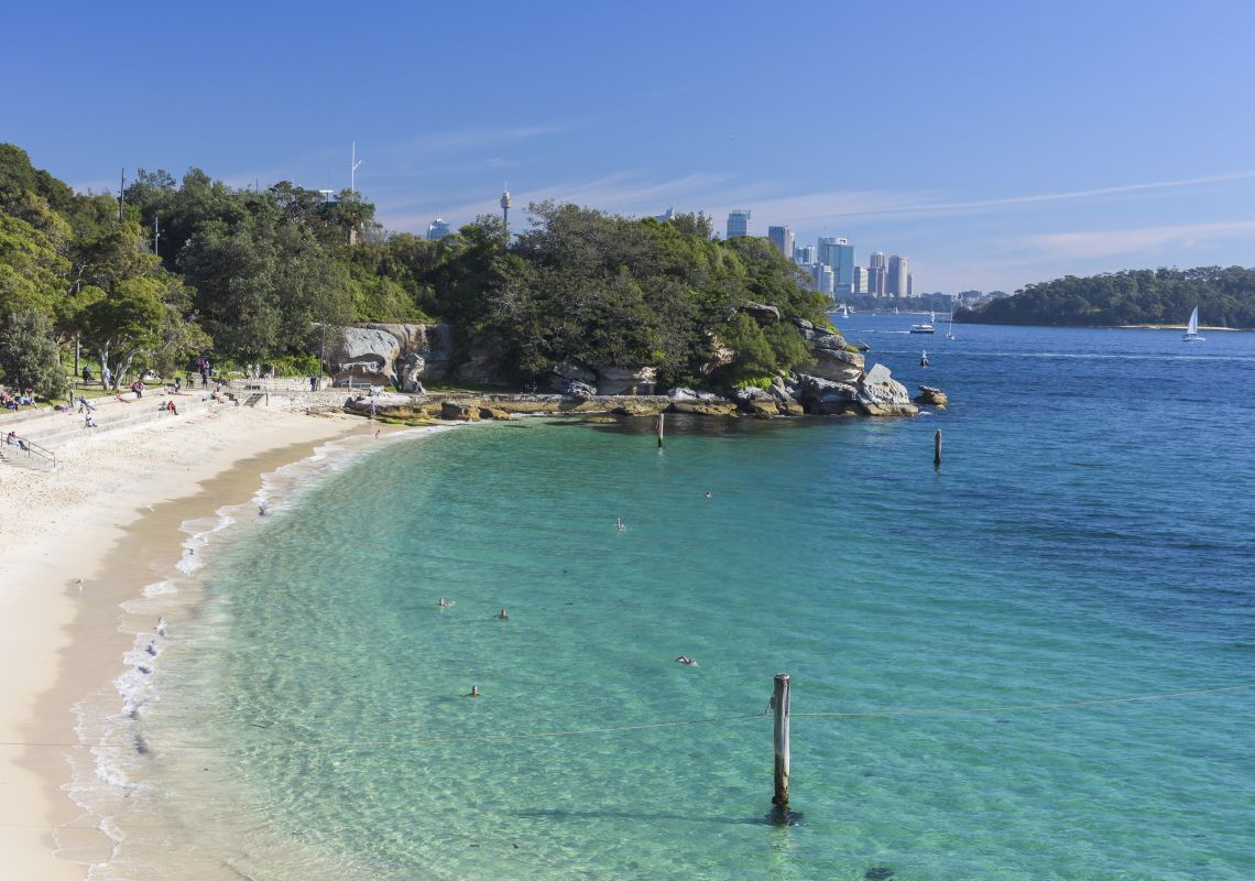 Shark Beach, Vaucluse in Sydney Harbour, Sydney City