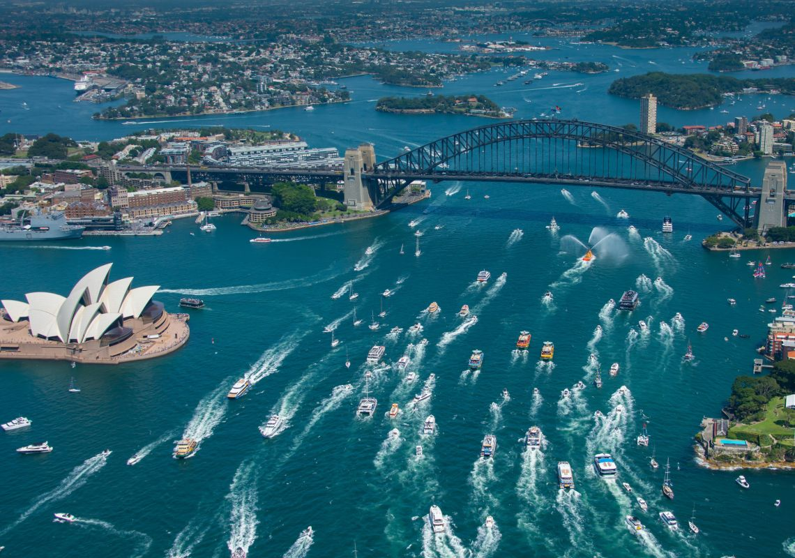 Ferrython event on Sydney Harbour during Australia Day 2019, Sydney City