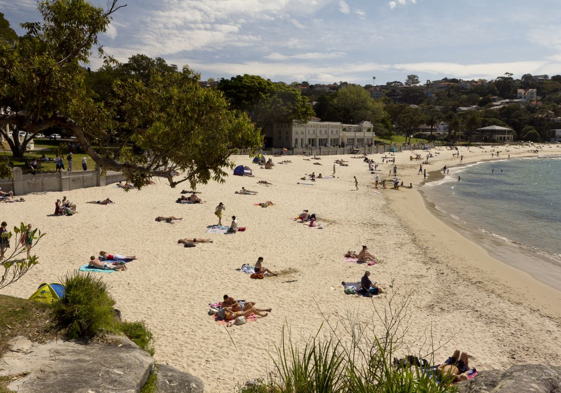 Balmoral Beach with Bathers Pavilion in background, Mosman