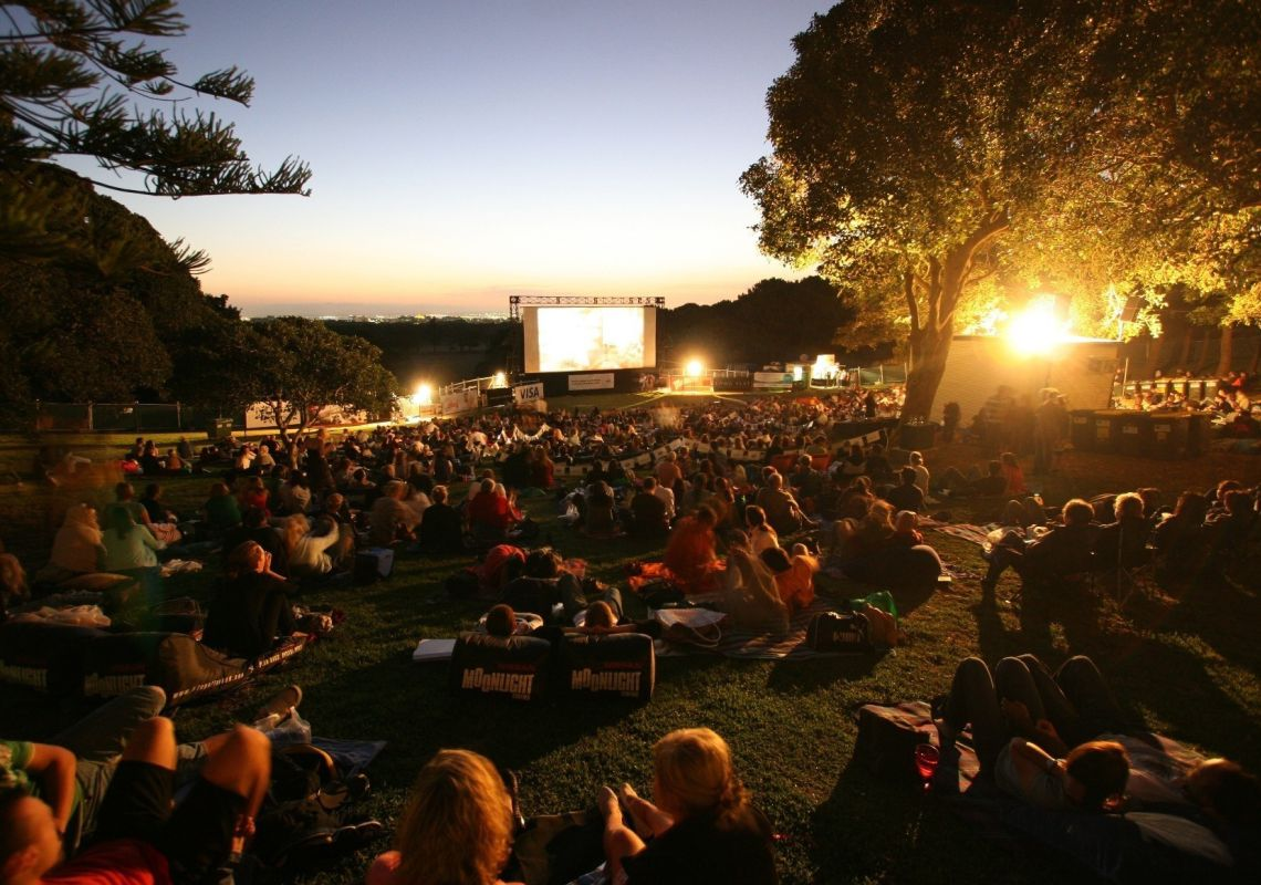 Moonlight Cinema in Centennial Parklands, Sydney