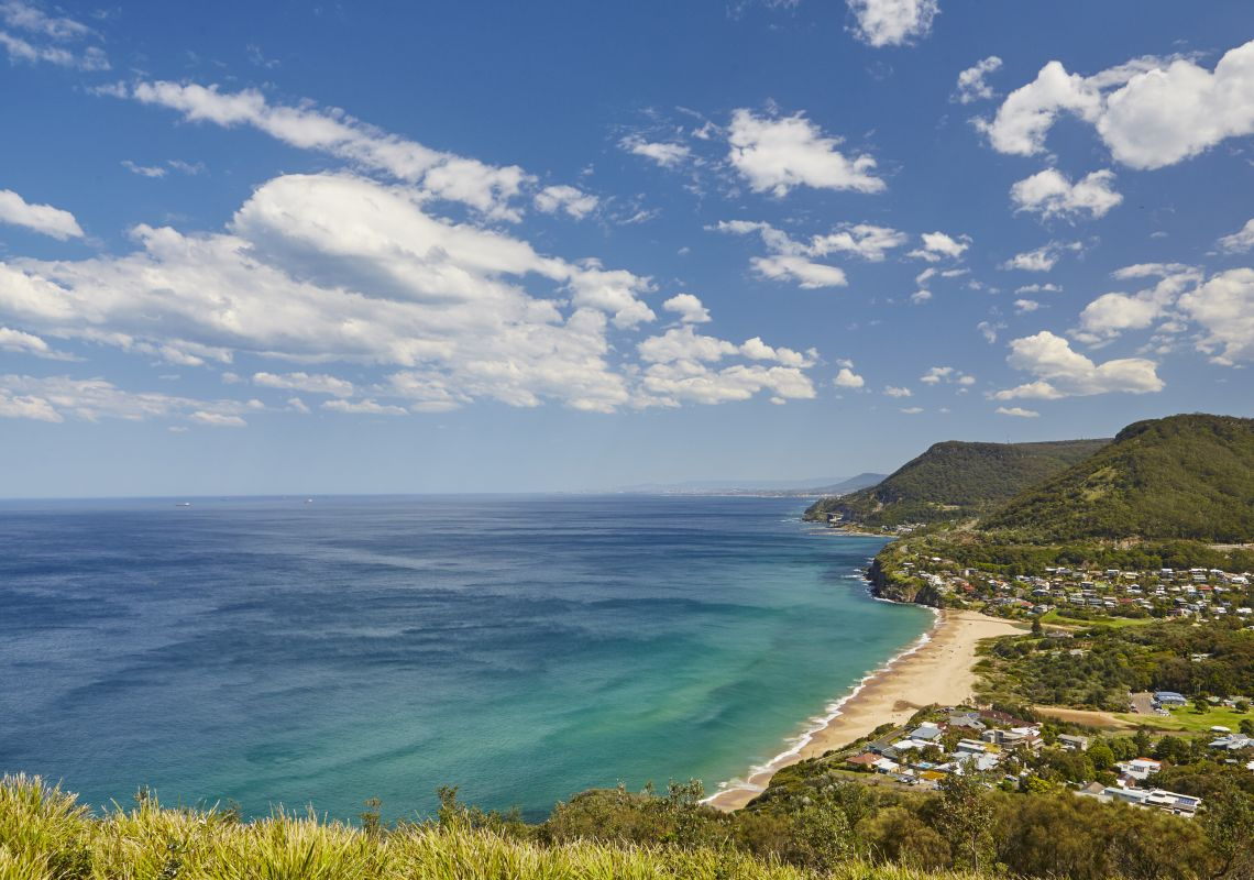 Scenic views from Stanwell Tops Lookout, Royal National Park, Sydney South