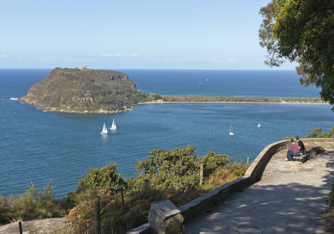View from West Head lookout over to Barrenjoey Headland, Ku-Ring-Gai Chase National Park