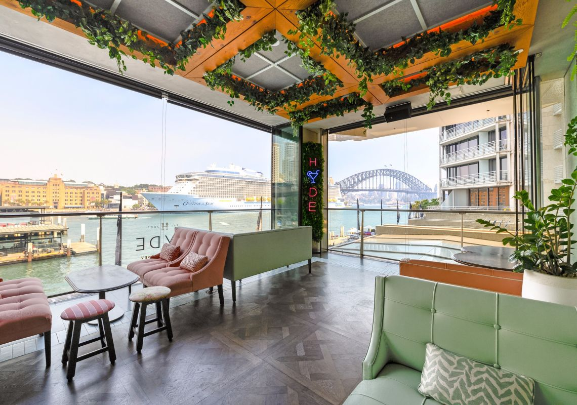 Hyde Hacienda Sydney Bar and Lounge at the Pullman Quay Grand Sydney Harbour