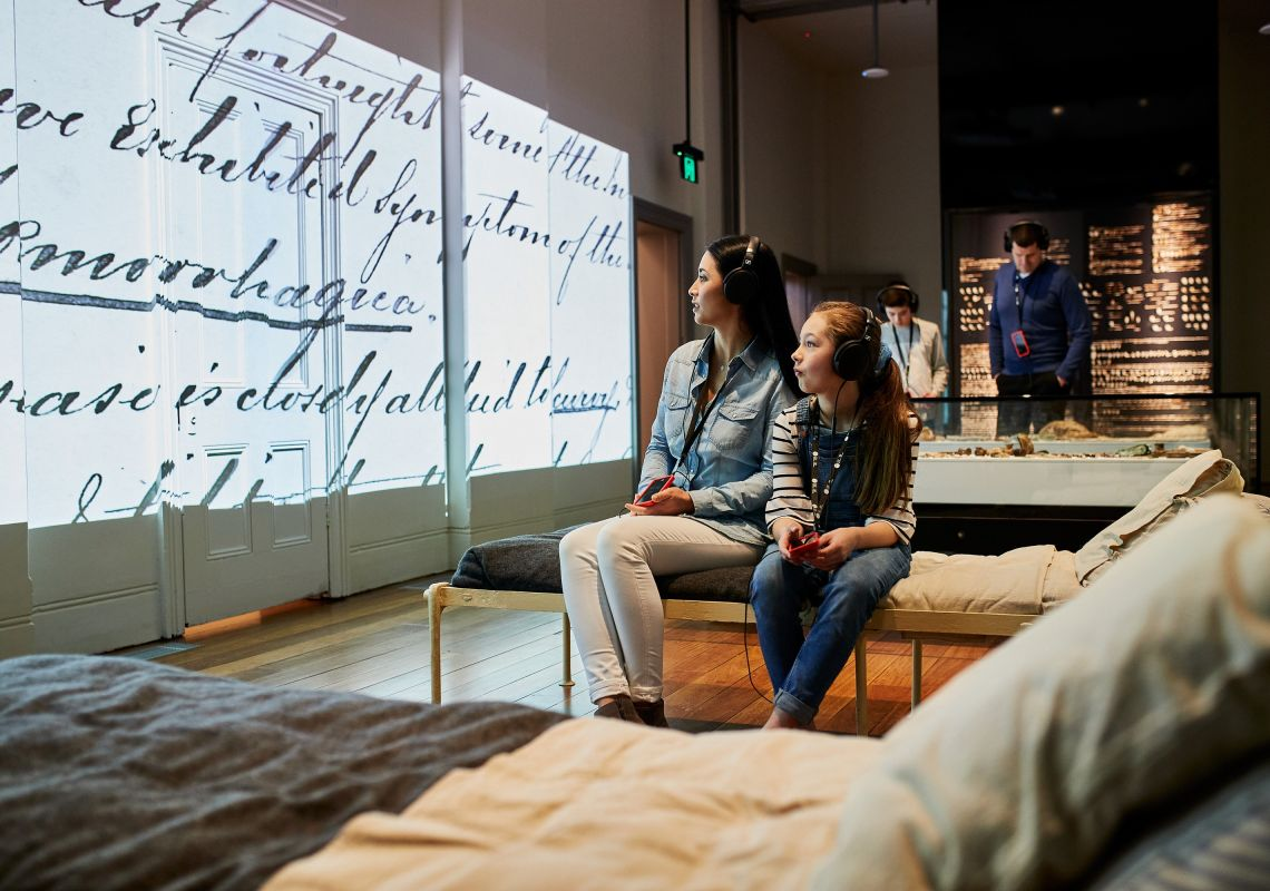 Immersive displays at the Hyde Park Barracks, Sydney City