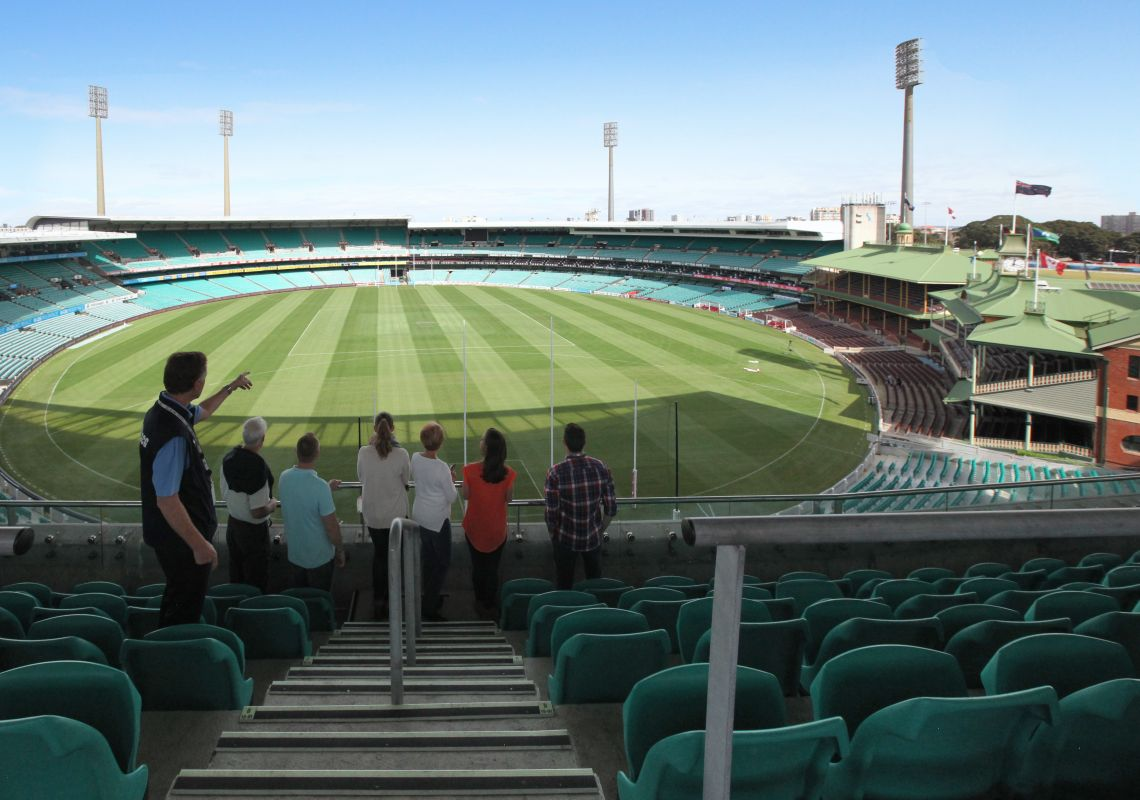 Breathtaking views behind the scenes on SCG guided walking tour in Moore Park, Sydney East