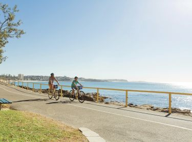 Cycling, Manly Beach
