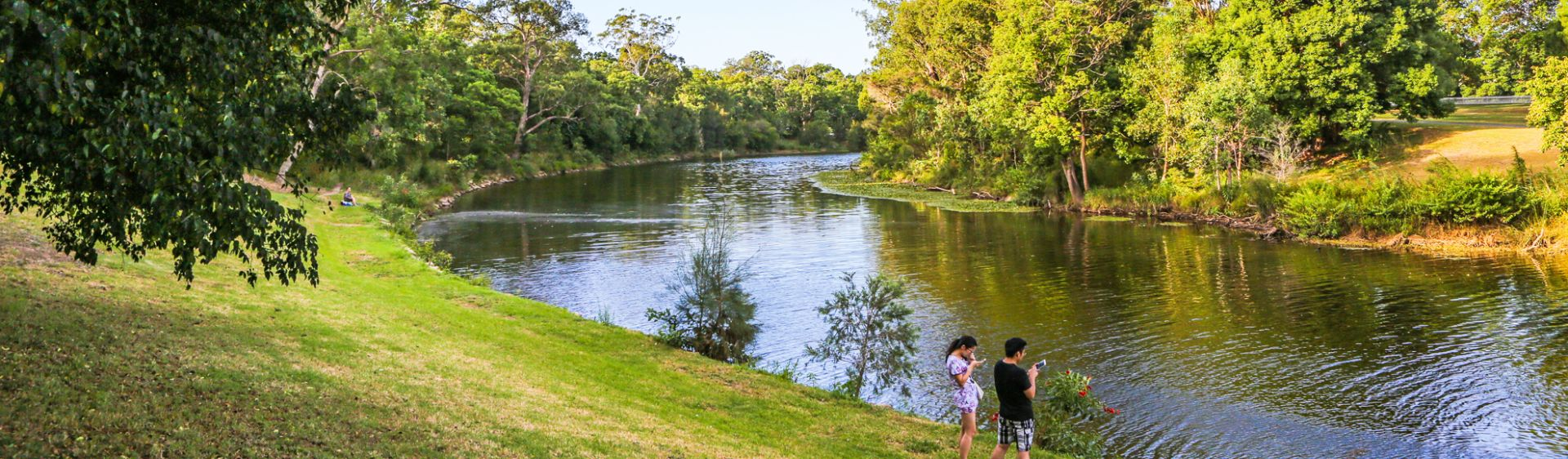 The Parramatta River meanders through picturesque Parramatta Park