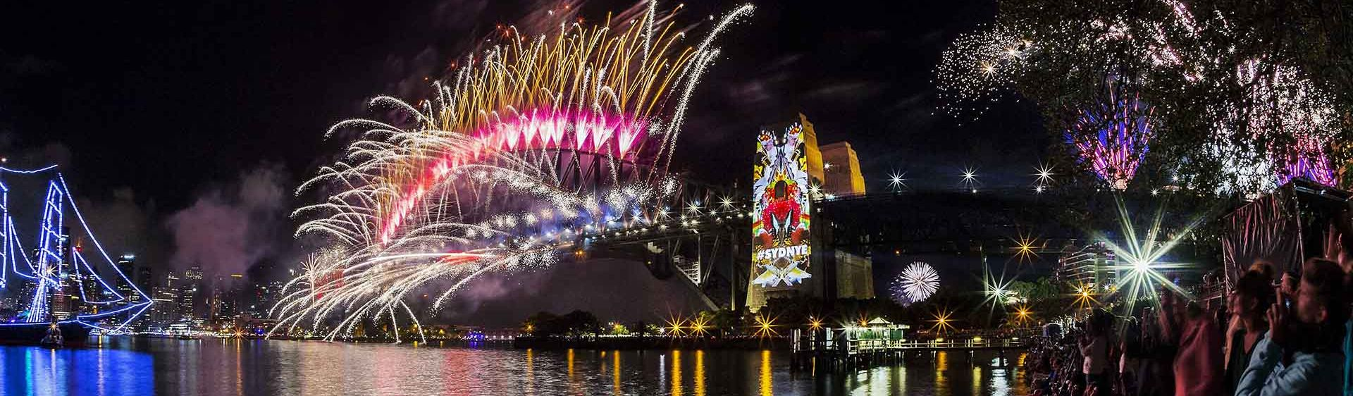 Sydney Harbour Bridge on New Year's Eve