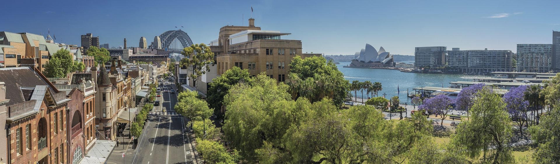 Scenic view of The Rocks and Circular Quay, Sydney