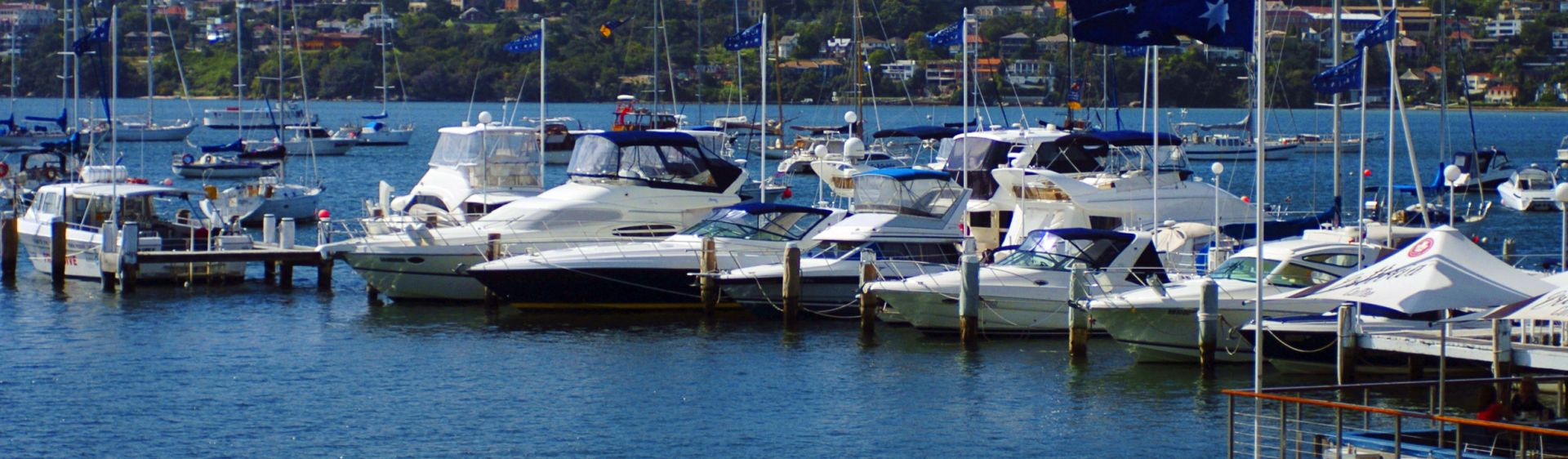 Boats moored at Double Bay Marina, Sydney
