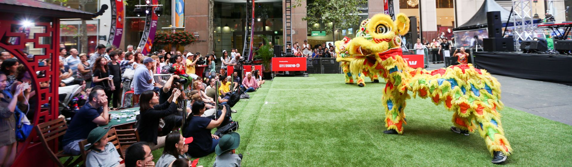 A Lion Dance performed during the Sydney Lunar New Year