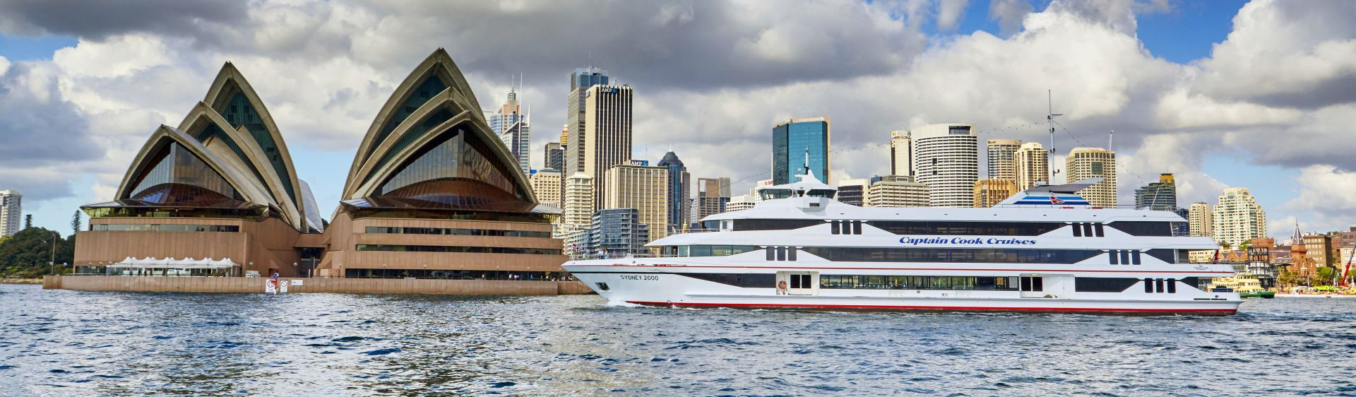 Sydney Harbour cruise passing the Sydney Opera House